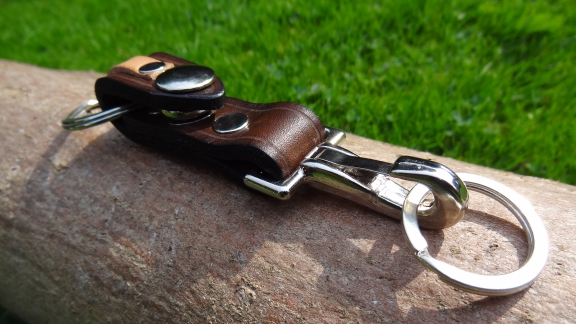Leather Valet Keychain / keyring